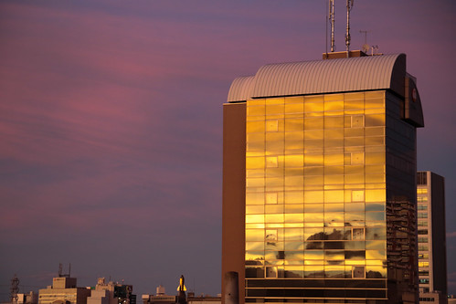 Golden Building - After Typhoon at Saitama