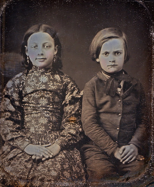 Sarah Ann and William Henry Harrison Sourbeck, Scoville 1/6th-Plate Daguerreotype, Circa 1850