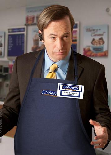 Saul as Cinnabon manager