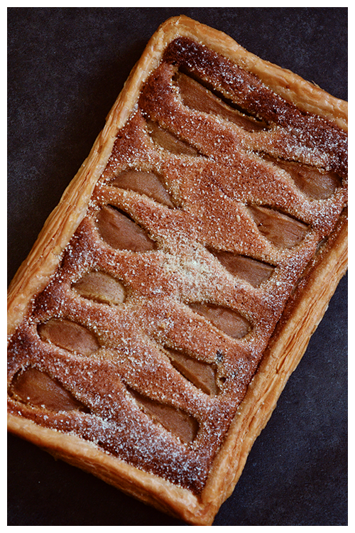 Pear and Chocolate Frangipane Tart© by Haalo
