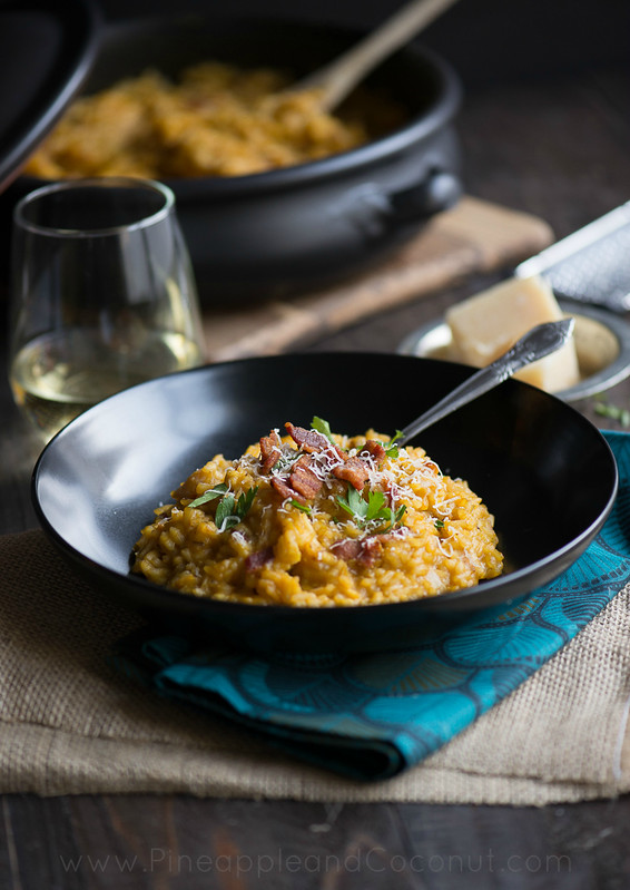 10049339683 d3d09018dd c Creamy Maple Bacon Pumpkin Risotto #PumpkinWeek