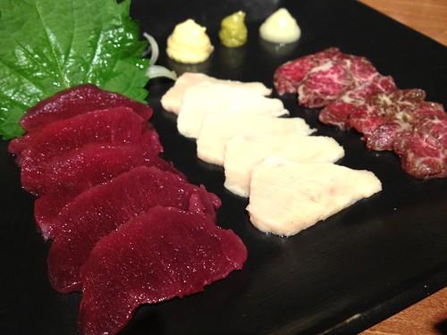 馬肉の刺身3点盛り合わせ@九州料理 流