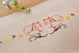 Foxes Embroidery Pattern hand embroidery pattern by NaiveNeedle