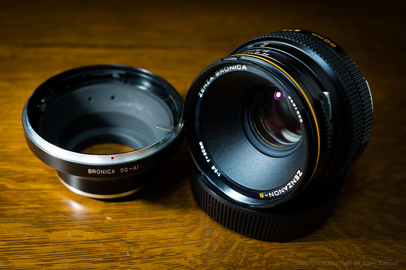 Bronica SQ Lens For Nikon F Mount Adapter