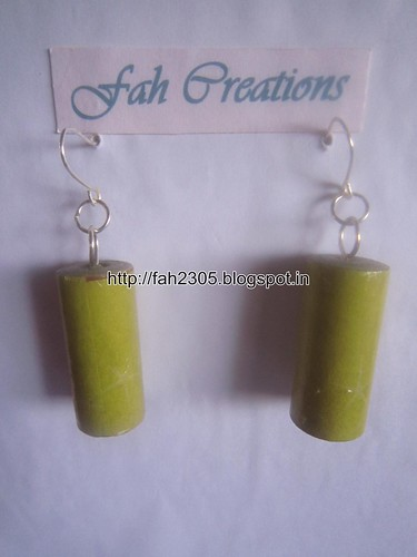 Handmade Jewelry - Rolled Cylinder Paper Earrings (3) by fah2305