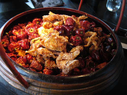 Red Lantern crispy soft shell crab with Sichuan dried chilli