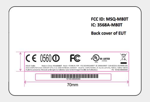FCC ASUS M80T