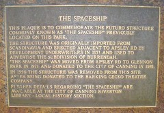 Photo of The Spaceship bronze plaque