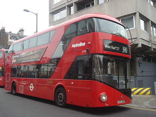 Metroline LT10 on Route 390, Notting Hill Gate