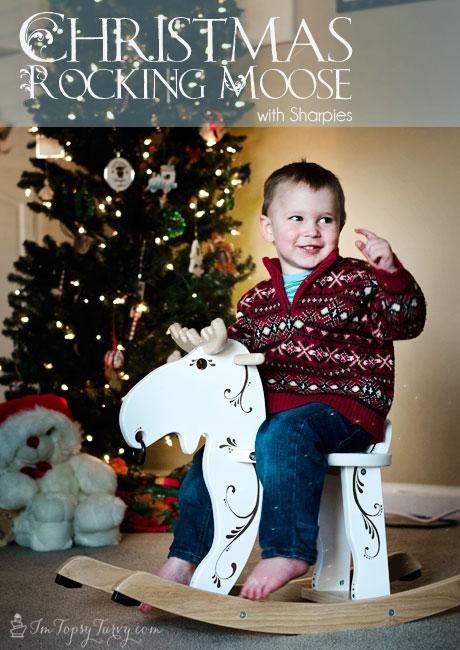 Christmas-rocking-moose-gold-sharpies-#StaplesSharpie
