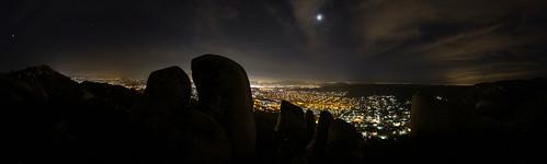 california panorama mountain night view unitedstates nighttime vista santee bluerock