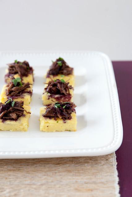 Braised Short Rib and Potato Bites with Cabernet Sauce