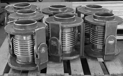 24 Single Hinged Expansion Joints Custom Designed for a Chemical Plant