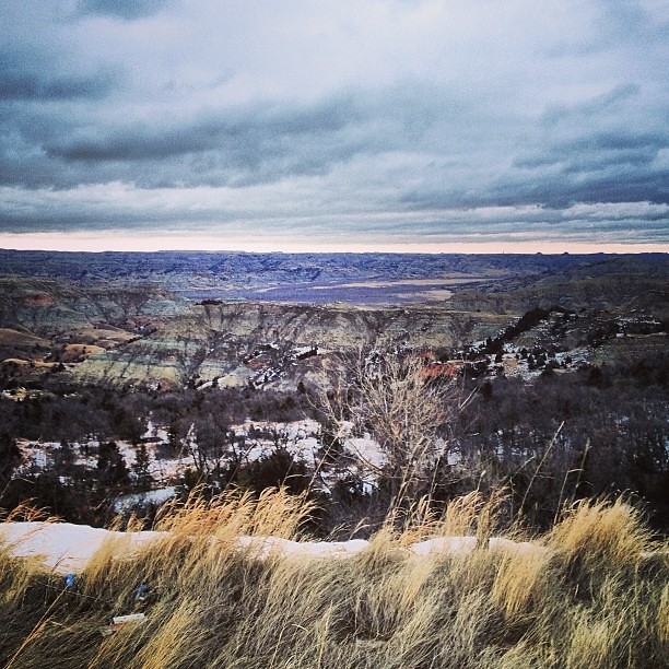 January 26, 2014. Winter Badlands