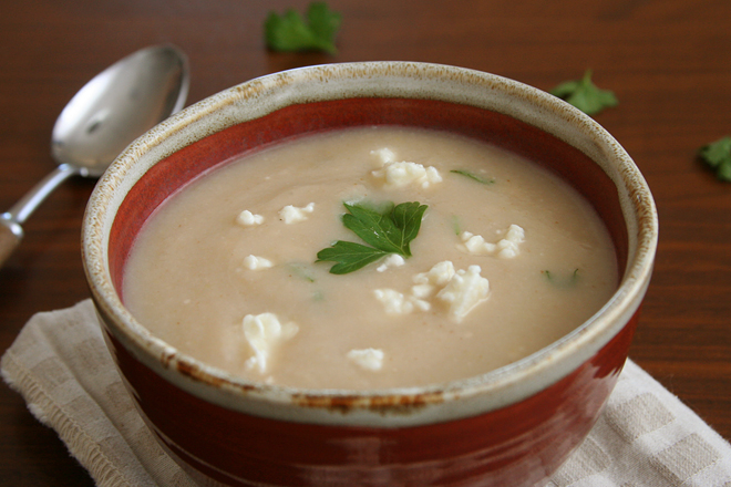 cauliflower feta soup 3