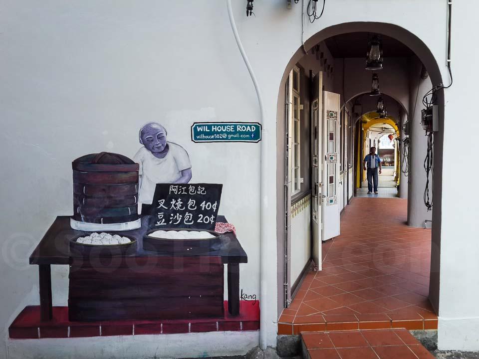 """Pau Seller"" @ Penang, Malaysia"