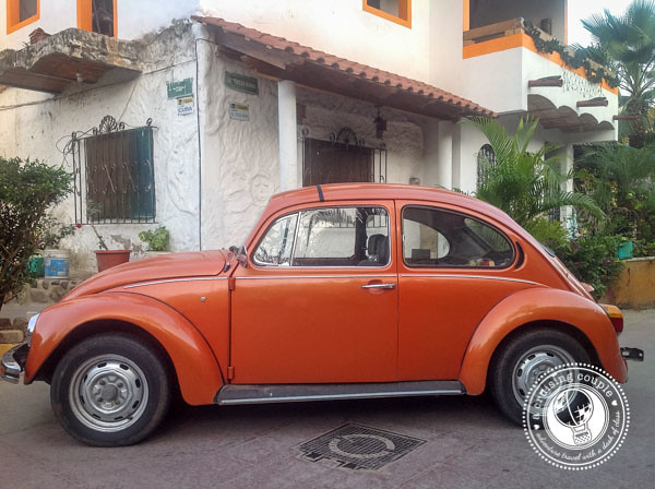 How to Travel Mexico in Style - Mexican Vocho Orange