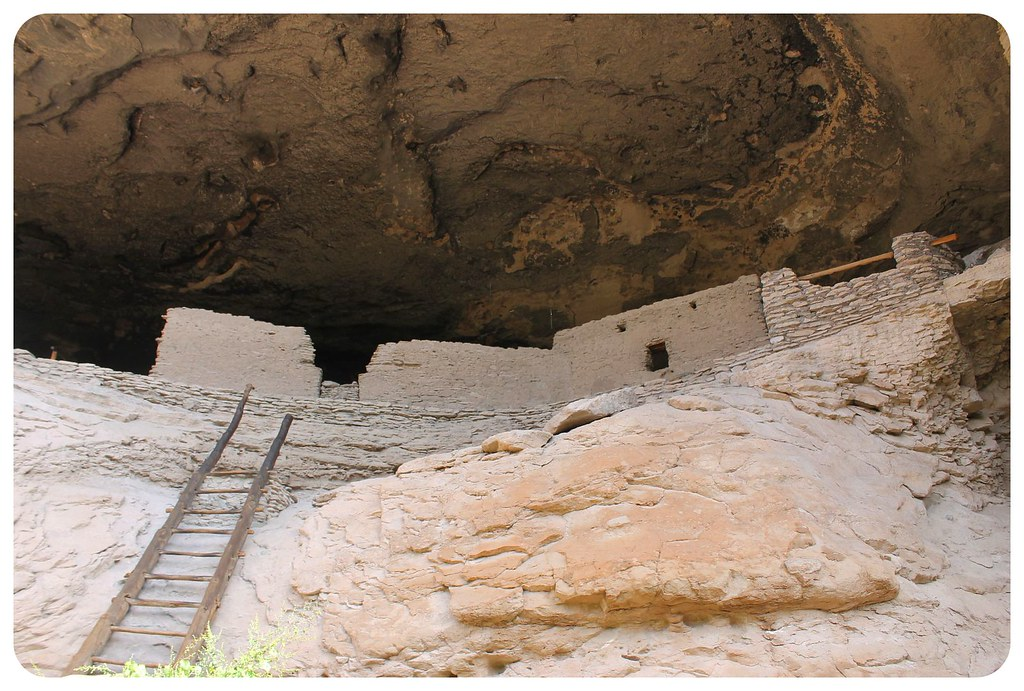 gila cliff dwellings cave with ladder