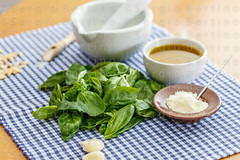 Italian food - pesto and ingridients