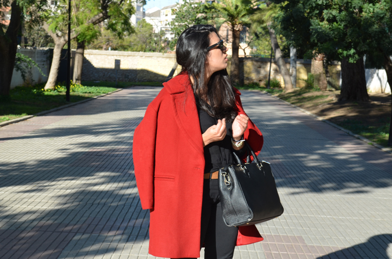florencia looks red coat abrigo rojo
