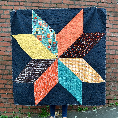 Retro Giant Star Quilt