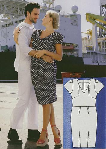 Burda-Plus-2014-SS Unsewn Pleat Dress