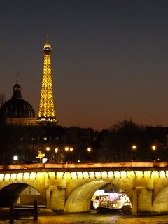 Night Seine Eiffel Tower