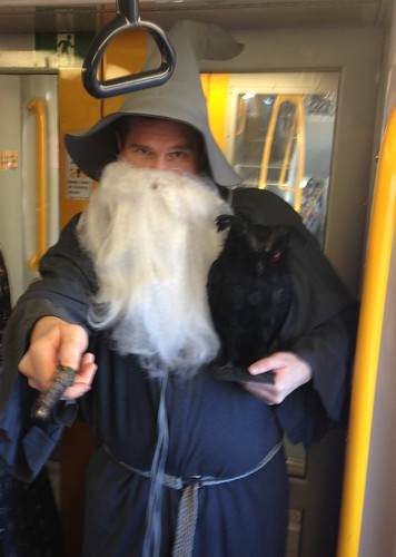 On the 5:29pm train from Central to Strathfield dressed as a Wizard on 20th March – 88 points