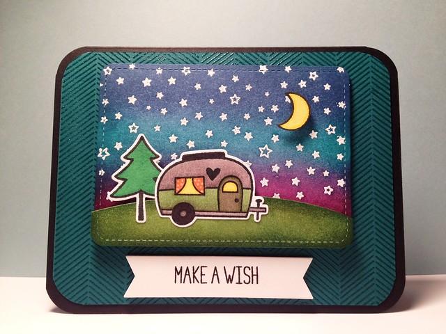 """Lawn Fawn """"Make A Wish"""" Happy Trails Card"""