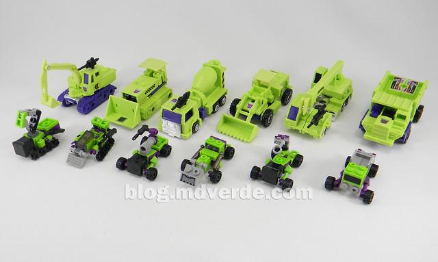 Transformers Devastator Kre-O - modo alterno vs G1
