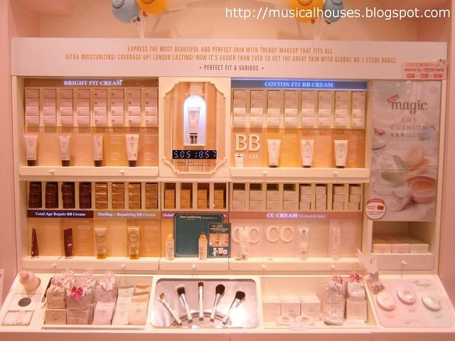 Etude House flagship store BB cream area