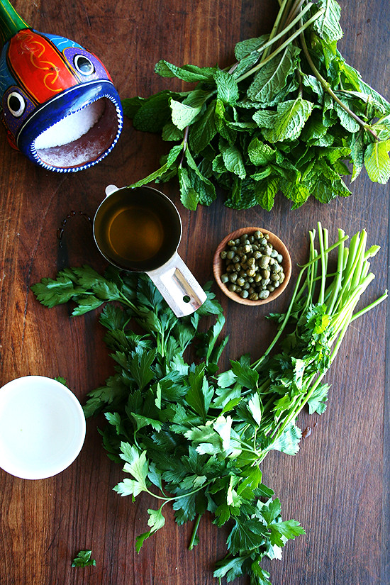 ingredients for mint sauce