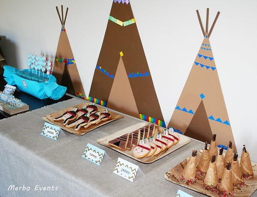 Detalle Sweet table Cumpleaños Pocahontas  Merbo Events