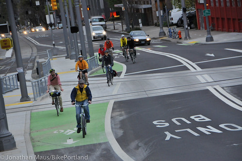 Bike Advisory Committee rides downtown-30