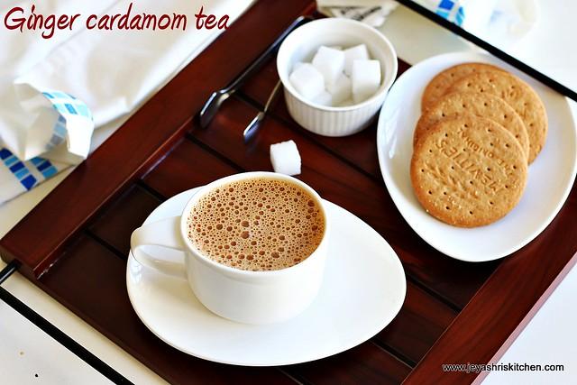 ginger cardamom tea | indian kitchen basics | how to make tea