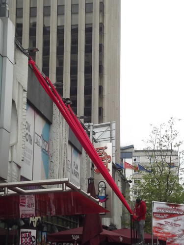 The Circus - Broad Street - red drapes