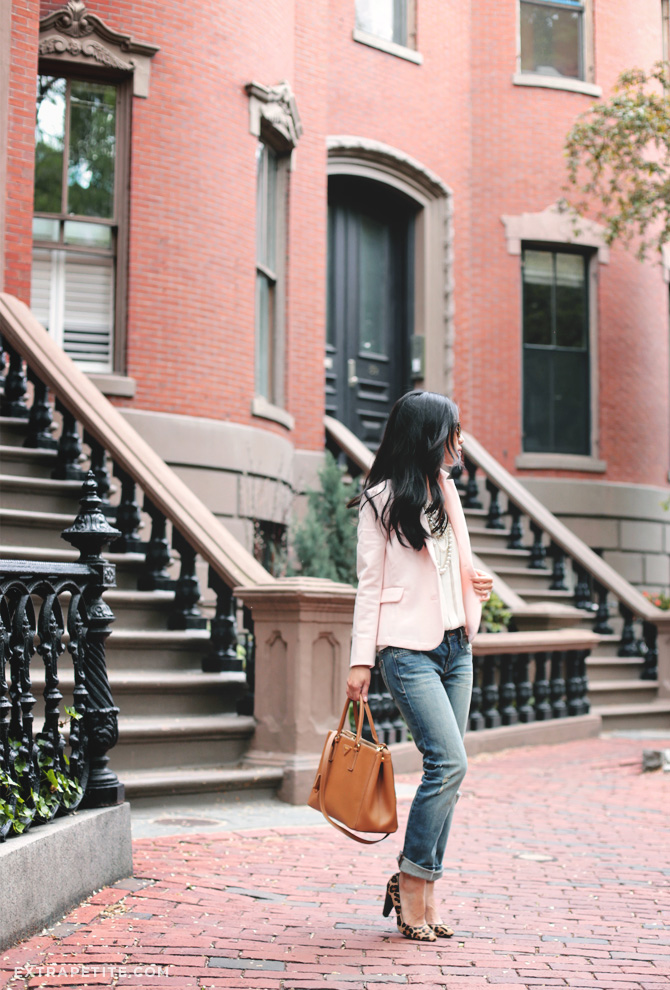 pink blazer boyfriend jeans4