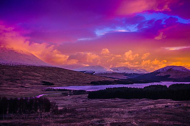 Sunset Over Loch Tulla