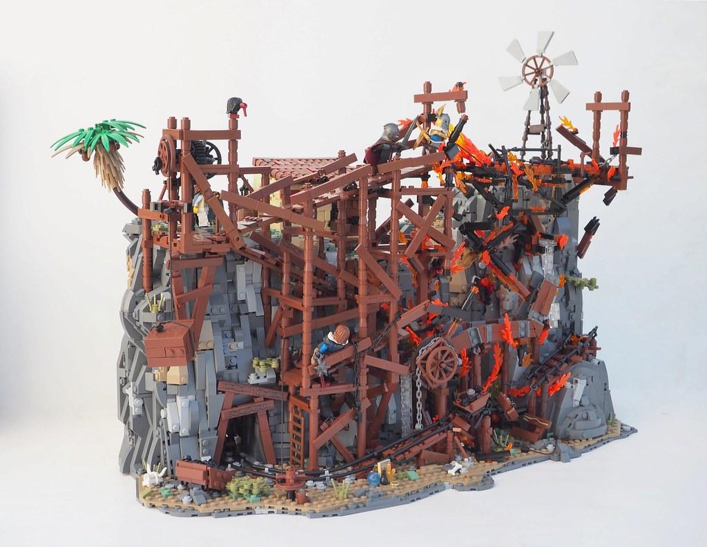 Forsaken Abyss Mine (custom built Lego model)