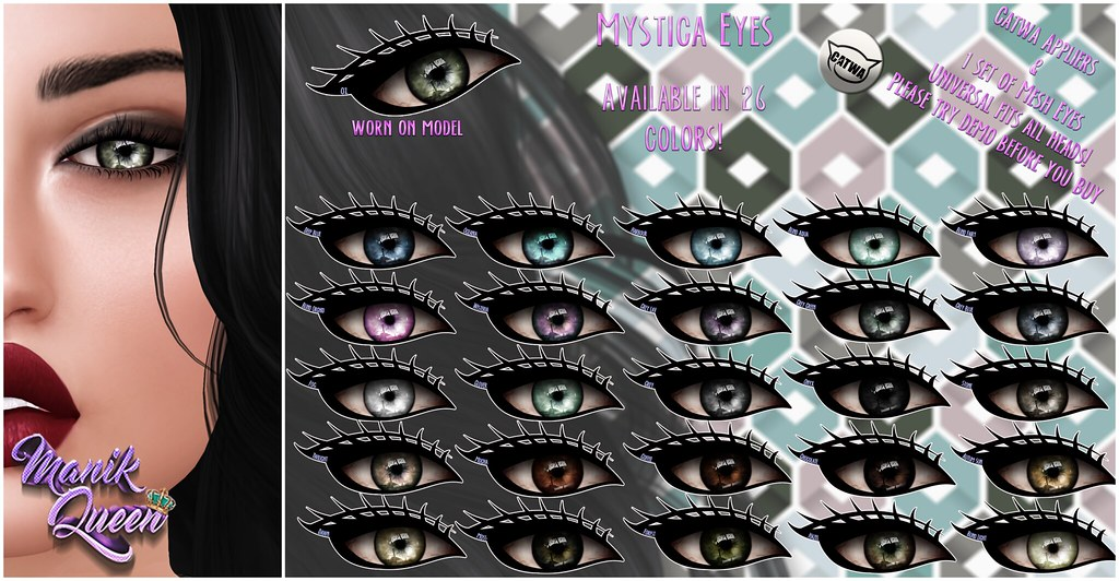 MANIK QUEEN- Mystica Eyes - SecondLifeHub.com