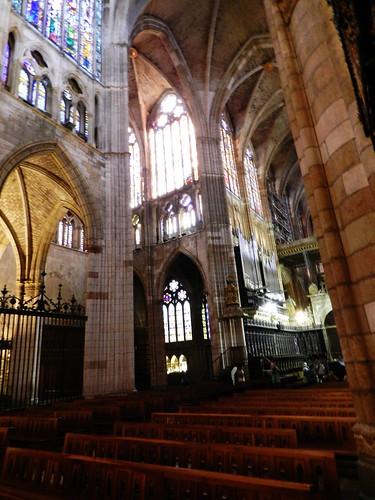 leon interior catedral santa maria de regla nave central y coro
