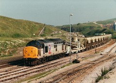 37802 Stabled at Dove Holes on the Redland self discharge train 1998