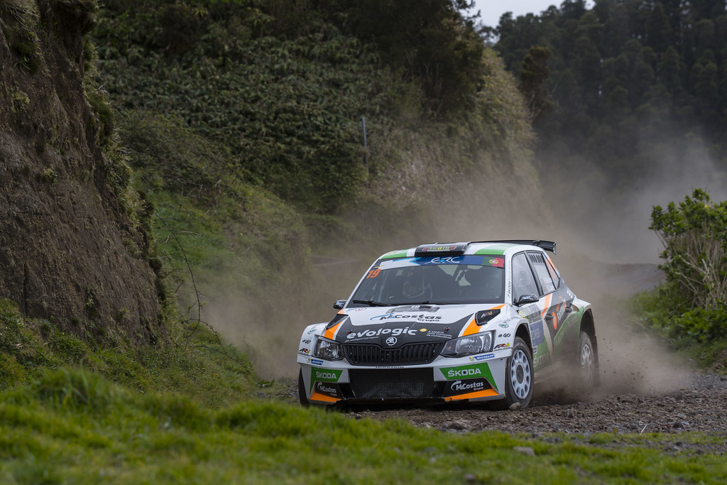 19 MEIRELES Pedro CASTRO Mario Skoda Fabia R5 Action during the 2017 European Rally Championship ERC Azores rally,  from March 30  to April 1, at Ponta Delgada Portugal - Photo Gregory Lenormand / DPPI
