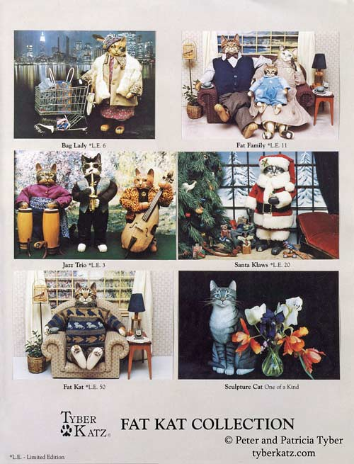 Cat art doll catalog by Peter and Patricia Tyber of Tyber Katz, page 3