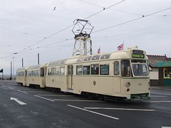Blackpool Tramway Twins 272/T2 at Fleetwood Ferry (27/05/2013)
