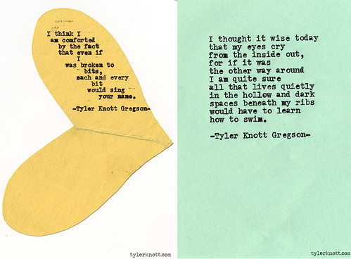 typewriter series by tyler knott gregson