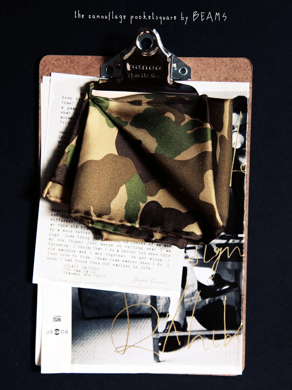 camouflage pocketsquare