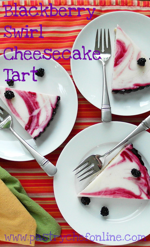 Blackberry Swirl Cheesecake Tart