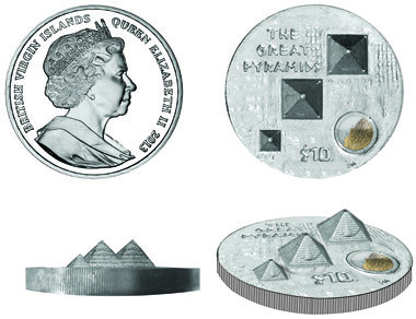 Pyramids of Giza coin