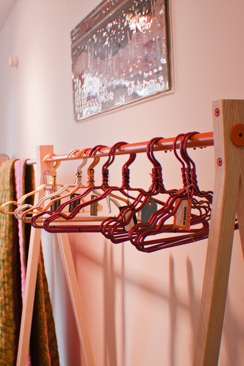 colourful hangers at the Brighton store LARA